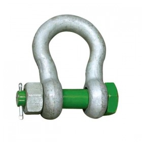 Green Pin Bow Shackle with safety bolt 0.5t